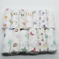 Wholesale Kids muslin Swaddles blankets baby Muslin wraps Newborn INS Manta de bebe Organic Cotton Muslin Bath Towels INS Parisarc sleepsacks A452