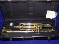 Wholesale Bb Bass Trumpet Brass body Lacquer Finish with Wood Case and mouthpiece Shipped by EMS