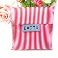 Wholesale BAGGU fashion shopping bags creative Square shopping bag folding can be printed logo factory direct sales