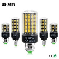 Wholesale 2016 SMD More Bright LED Corn lamp Bulb light W W W W W W E27 E14 V V No Flicker Constant Current