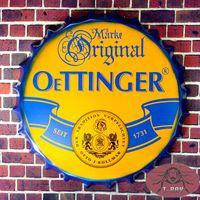 beer bottle cap german - quot Oettinger Beer quot German Beer Since Round Tin signs Beer Bottle Cap House Office Restaurant Bar iron Paintings cm RM