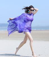 beach sarong - New color Girl s Lady s Shawl Lightweight Scarf Sarongs Wrap oversized Bikini Cover up Beach Sunscreen Chiffon
