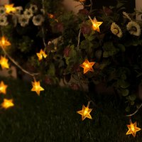 beaded solar light - 8M LED holiday lights flashing lights string lights starry Halloween beaded light pentagram light string Christmas lights