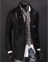 Wholesale 2016 c s Gray Slim Hot Stylish Woolen Jacket Double Pea Trench Coat Fashion Jackets