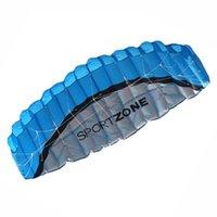 beach kite easy fly - 2 m Dual Line Parafoil Parachute Sports Beach Kite Nylon Cloth Fabric Easy To Fly
