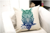 Wholesale Hand painted Animal Cushion Lion Wolf Bear Owl Cushion Decorative Pillow cushions without filling