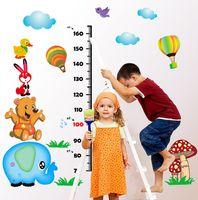 Carta de crecimiento Hijos Estatura etiqueta de la pared del sitio del bebé pegatinas de pared de la historieta por cuartos de los niños Decoración Pegatinas