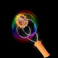 Wholesale 432PCS LJJH1311 Hot Sell Colorful lights magnetic Magic Magic flying gyro rotating magnetic glow toys LED Magic spinning top