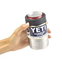 Wholesale YETI cup coolers oz Colsters Stainless Steel Insulation Cups Rambler Tumbler cup coffee mug W LID Cars Beer Tumblerful pc