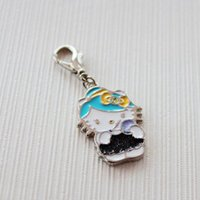 Wholesale Key Jewelry Components - 7 Colors Epoxy KT Cats Charms For Bags Key Chain Necklace Bracelet,High Qiality Wholesale Hello Kitty Jewelry Findings & Components WB7003