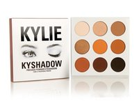 Wholesale In Stock Kyshadow kit kylie Jenner pressed powder eye shadow Kylie Cosmetics the Bronze Palette colors eyeshadow Kylie Gold Eye shadow