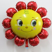 balloon news - News cm ctn birthday party decoration red and pink Smile sunflower foil balloon kids toys helium ballon
