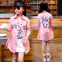 Wholesale Fashion Kids Shirt Lovely Rabbit Shirt Spring Autumn Long Sleeve Top colors p l