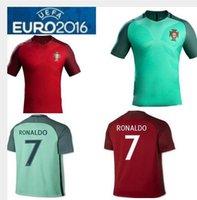 la entrega gratuita de Portugal 16/17 camiseta de fútbol de la calidad de Tailandia de 2016 camisetas de fútbol Portugales