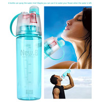 Wholesale BPA Free Plastic Sports Spray Water Bottle Straw For Outdoor Bicycle Cycling Sports Gym Drinking Bottles