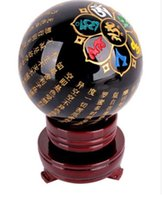 ball wedding shoes - 80mm Narural obsidian quartz Crystal carving scriptures Sphere Ball Healing stand