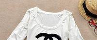 Wholesale new fashion women s logo half sleeve t shirt shirts tops black and white modal tshirts tees top quality hot brand t shirts