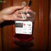 Wholesale Specials Halloween Decoration Props drink Blood Bag clear Food Grade reusable Drink Bag Vampire