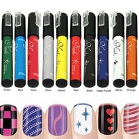 Wholesale 1 color Nail Art Pen Painting Design Tool Drawing for UV Gel Polish K00029 BAR
