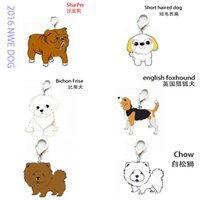 bichon mix - 25MM Mix new pet charms Chow English Foxhound bichon frise sharpei belldog Keychain dog tag metal pendant promotional gifts