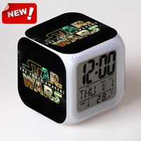 alarm force - 2016 The Force Awakers Star war Alarm Clock Digital Klokken Electronic Desk Watch Relogio De Mesa Wake Up Light Plastic star war