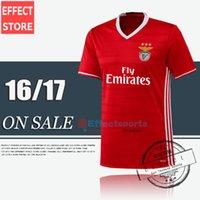 Wholesale Top quality NEW SL Benfica Soccer Jersey RAUL MITROGLOU PIZZI Sport maillot de foot Home red away Black Lisboa football shirts