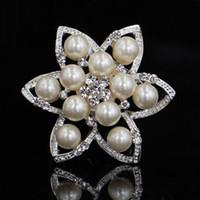 beautiful hijab pins - Cheap Beautiful Pearl Rhinestone Silver Plated Brooches for Women Brooch Pins Jewelry Hijab Pins Women Dress Accessories