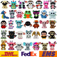 Precio de Gran cosa-Muñeca de la felpa los nuevos del estilo 19 ojos de los animales de dibujos animados TY Beanie Boos juguetes de peluche para los regalos de los cabritos de cumpleaños de Navidad del adulto WX-T54