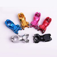 anodized aluminum bar - Anodized colors Bicycle Parts Bicycle Stem Fixed Gear Bicycle Mountain Bike Aluminum Alloy Short Handle Bar Stem