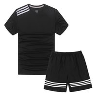 Wholesale Men s casual Sports T shirt Two piece suit Original famous brand T shirts Basketball football clothes Running Sportswear suit shirt No AD103
