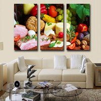 art cheese - LK360 Panel Bread Cheese Vagetable Fruits Food Wall Art Modern Pictures Print On Canvas Paintings Sale For Home Bar Hub Kitchen Fashion