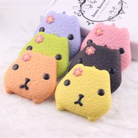 For Apple apples cookies - 10cm kawaii squishy KAPIBARASAN cookies colors rising Cell Phone Straps mix color squishy packages kids kitchen food toys