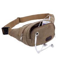 Wholesale Retro Men Fashion Outdoor Sports Leisure Canvas Shoulder Bag Chest Pack Hiking Waist Sling Bag