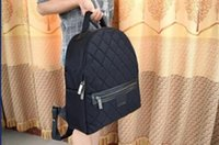 Wholesale High quality New arrival women s plaid Nylon canvas backpacks famous brand Quilted backpack travel bag Size