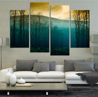 art tree images - Hot Sale Modern Abstract Huge Wall Art Painting On Canvas Sunrise Tree Landscape HD image F204