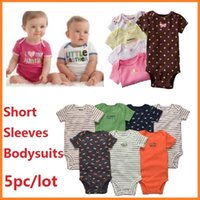 Wholesale Retail Baby Boys Girls Bodysuits Newborn Y cotton Rompers Summer Short Sleeve Jumpsuit Clothing Sets Cute Baby Clothes Infant
