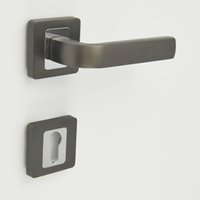 Wholesale Door Handle with Cylinder Hole Escutchoen Black Nickel and Chrome