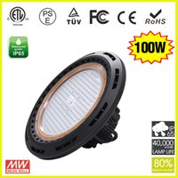 Wholesale Led Warehouse Lighting Industrial Lamp Fixtures Smd W UFO LED High Bay Lights Meanwell driver High Bay UFO Fixture Light