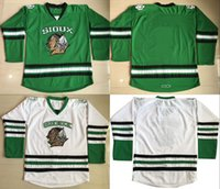 blank hockey jerseys - North Dakota Fighting Sioux Hockey Jersey blank Green University Throwback Stitched Jerseys Custom Name And Number