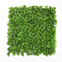 Wholesale 12 Pieces quot x quot Long Lasting Fresh PE Artificial Boxwood Hedge Garden Decoration Fake Plants Fence