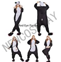 adult women onesie - Hot Unisex Adult Pajamas Cosplay Costume Animal Onesie Sleepwear Suit Halloween Costumes Men Woman Red Eye Panda NEWCOSPLAY S XL