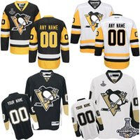 Wholesale 2016 Customized Men s Pittsburgh Penguins custom Any Name Any Number Ice Hockey Jersey Authentic Jersey Stitched Accept Mix Ord size S XL