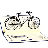 bicycle greeting cards - 10pcs Laser Cut Wedding Invitations D Retro Bicycle Kids Birthday Greeting Cards Pop Up Card