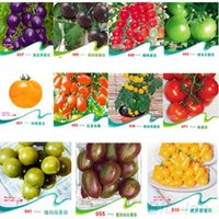 Wholesale NEW11bags set TOMATO SEEDS Purple Cherokee Cherry Black Red Yellow Blue Zebra Tomato Fruit Vegetable Bonsai Food