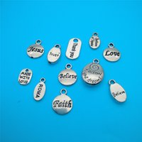 animal license plates - Mixed Tibetan Silver Letter licensing round Charms Pendants Jewelry Making Bracelet Necklace Fashion Jewelry Accessories DIY V132