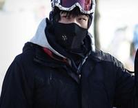 bicyle helmets - Sports Ski Snowboard Motorcycle Fleece Half Face Mask Motocross Helmet Winter Hood Windproof Bicyle Cycling Cap Headwear