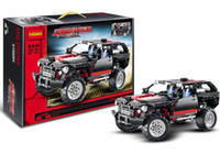 Wholesale 2016 Decool Transport Cruiser SUV Racing Car Model Building Block Sets Educational DIY Bricks Toys