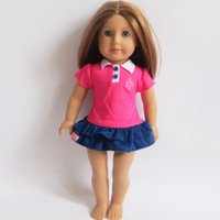 Wholesale 2016 Fashion style american doll dress Sport skirt fit for inch american girl doll