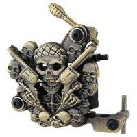 Wholesale Empaistic Skull Tattoo Machine Gun for Liner Shader Dual Wrap Coils Set