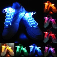 Wholesale 100pcs pairs LED Shoelaces Shoe Laces Flash Light Up Glow Stick Strap Shoelaces Disco Party Skating Sports Glow Stick